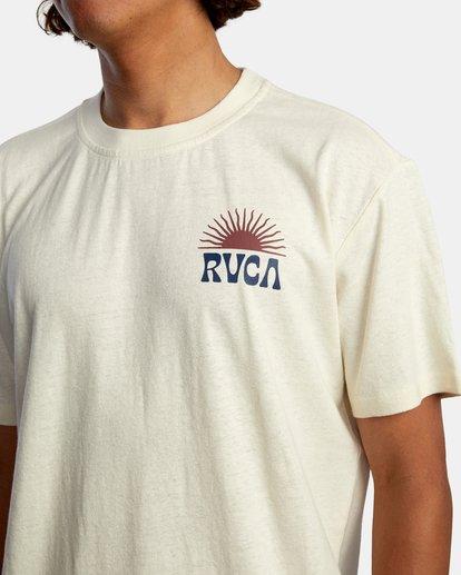 3 Harmonia Graphic Short Sleeve Tee White AVYZT00882 RVCA