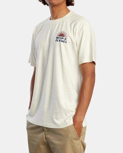 4 Harmonia Graphic Short Sleeve Tee White AVYZT00882 RVCA