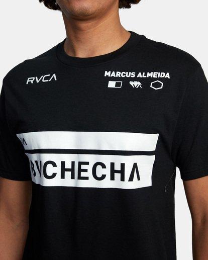 6 Marcus Buchecha | VA Sport x Buchecha One Short Sleeve Tee Black AVYZT00964 RVCA