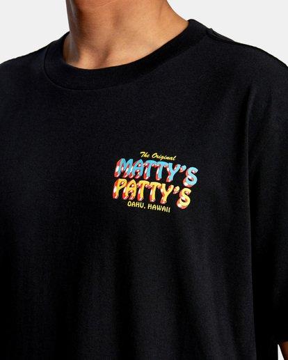 4 Matty Matheson   Matty's Patty's North Shore Short Sleeve Tee Black AVYZT00965 RVCA