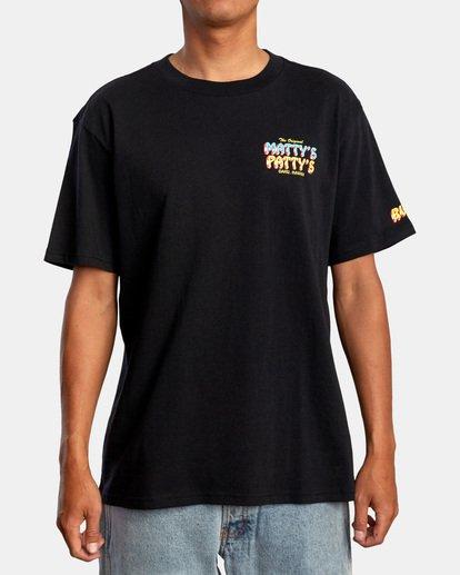 2 Matty Matheson   Matty's Patty's North Shore Short Sleeve Tee Black AVYZT00965 RVCA