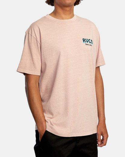 6 Matty Matheson | Matty's Patty's Tokyo Short Sleeve Tee Pink AVYZT01018 RVCA