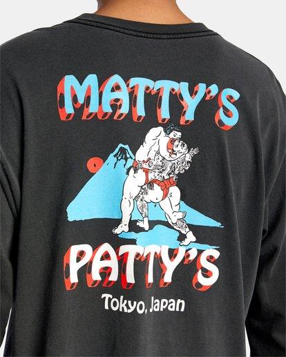 8 Matty Matheson | Matty's Patty's Tokyo Long Sleeve Tee Black AVYZT01019 RVCA
