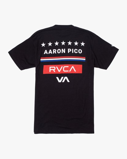 1 Aaron Pico | Pico Walkout Short Sleeve Tee Black AVYZT01135 RVCA