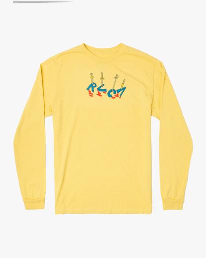 0 Spanky By The Sword Long Sleeve Tee Yellow AVYZT01309 RVCA