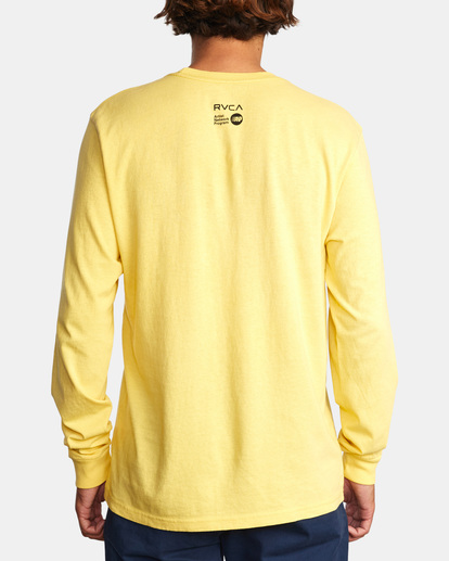 2 Spanky By The Sword Long Sleeve Tee Yellow AVYZT01309 RVCA
