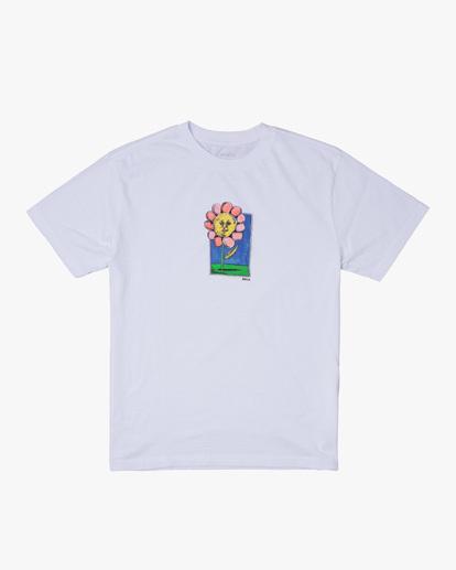 0 Spanky Flower Short Sleeve Tee White AVYZT01310 RVCA