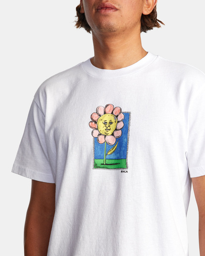 3 Spanky Flower Short Sleeve Tee White AVYZT01310 RVCA