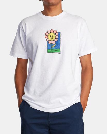 1 Spanky Flower Short Sleeve Tee White AVYZT01310 RVCA