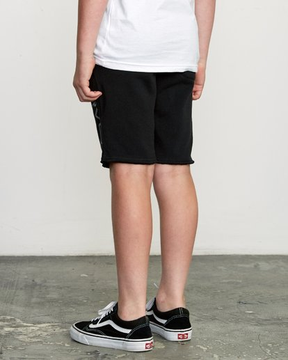 4 Boys Ripper Fleece Sweatshort Black B201URRI RVCA