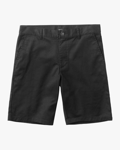 0 Boys Weekday Stretch Short Black B240TRWD RVCA