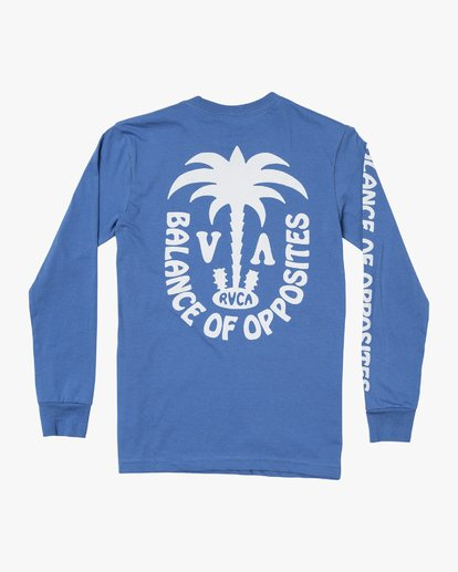 3 Boys OASIS LONG SLEEVE T-SHIRT Blue B4512ROA RVCA