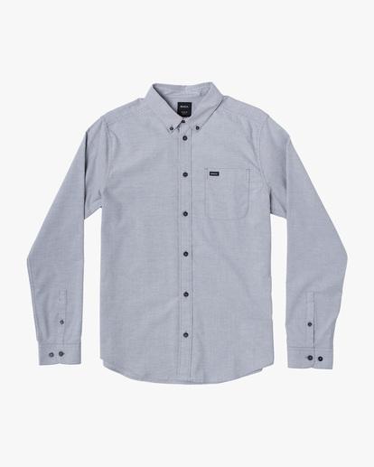 0 Boys That'll Do Stretch Long Sleeve Shirt White B526VRTL RVCA