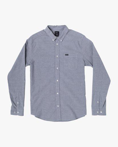 1 Boys That'll Do Stretch Long Sleeve Shirt Blue B526VRTL RVCA