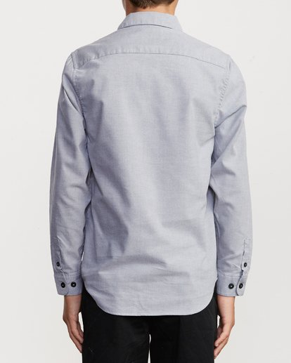 2 Boys That'll Do Stretch Long Sleeve Shirt White B526VRTL RVCA
