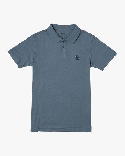 0 Boys Delancy Polo Shirt Red B908VRPP RVCA