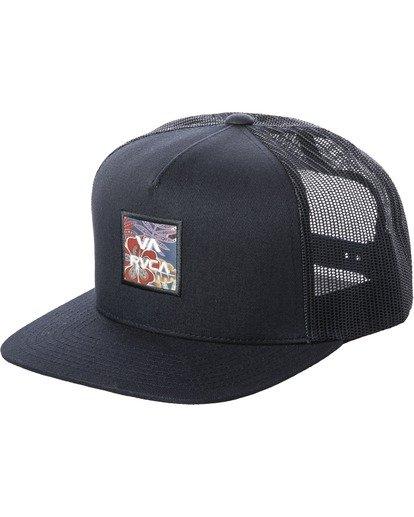 0 Boy's VA All The Way Trucker Hat White BAHW2RVP RVCA