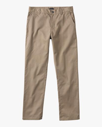 0 Boys WEEKDAY STRETCH straight fit PANT Grey BC301WDS RVCA