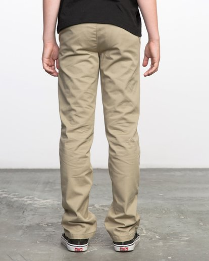 2 Boys WEEKDAY STRETCH straight fit PANT Beige BC301WDS RVCA
