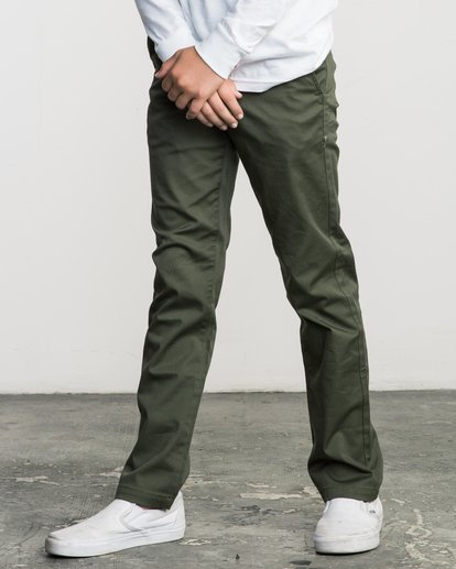 3 Boys WEEKDAY STRETCH straight fit PANT Green BC301WDS RVCA