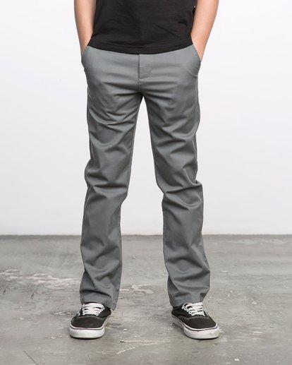 1 Boys WEEKDAY STRETCH straight fit PANT Grey BC301WDS RVCA