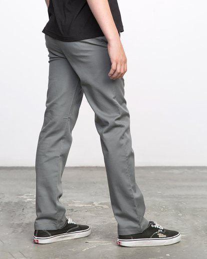 5 Boys WEEKDAY STRETCH straight fit PANT Grey BC301WDS RVCA