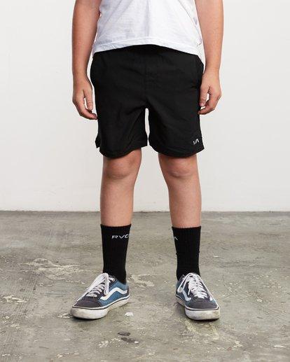 "1 Boys Yogger 3 15"" Short Black BL204YGR RVCA"