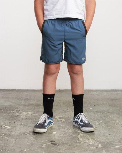 """1 Boys Yogger 3 15"""" Short Blue BL204YGR RVCA"""