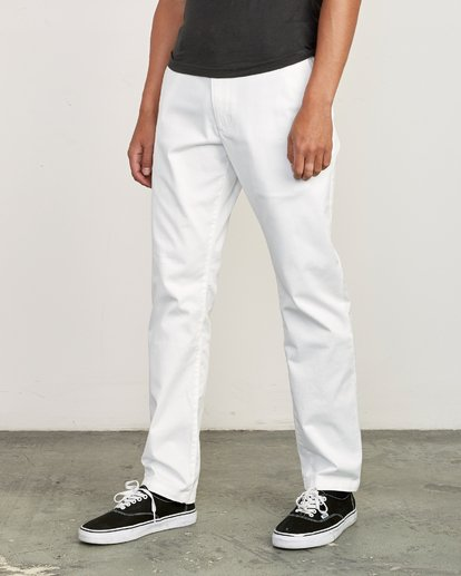 0 Weekend Stretch  - Trousers White F1PTRARVF7 RVCA