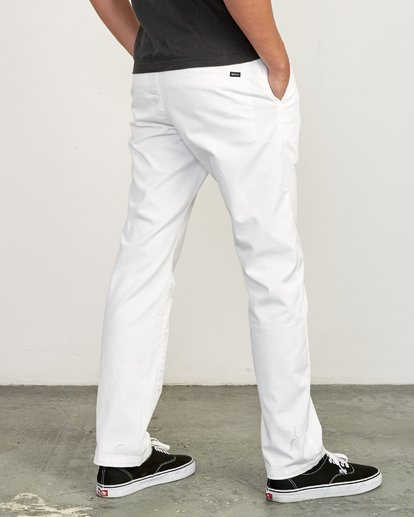 3 Weekend Stretch  - Trousers White F1PTRARVF7 RVCA