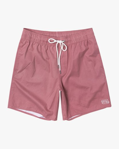 """0 Opposites Elastic Boardshorts 17"""" Red M1051ROE RVCA"""