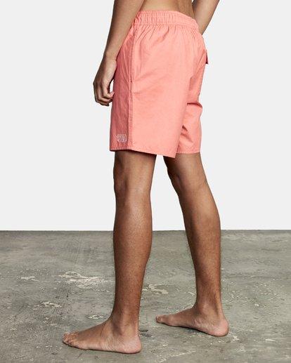 "3 Opposites Elastic Boardshorts 17"" Pink M1051ROE RVCA"