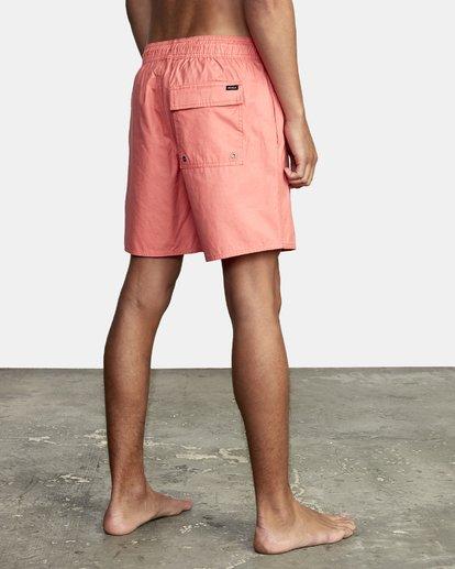 "4 Opposites Elastic Boardshorts 17"" Pink M1051ROE RVCA"