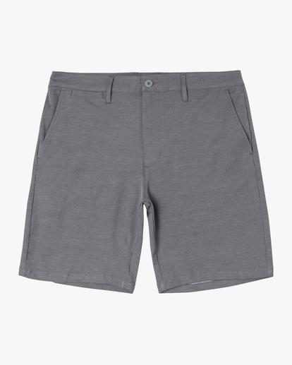 """0 Back In Hybrid Shorts 19"""" Grey M200QRBA RVCA"""