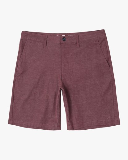 """0 Back In Hybrid Shorts 19"""" Red M200QRBA RVCA"""
