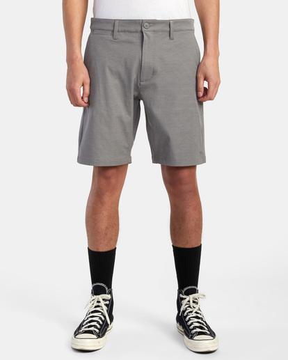 """1 Back In Hybrid Shorts 19"""" Grey M200QRBA RVCA"""