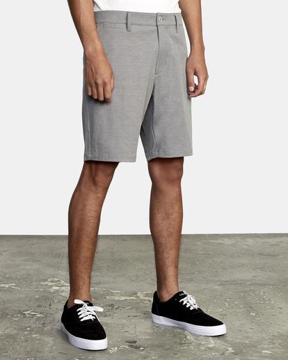 """6 Back In Hybrid Shorts 19"""" Grey M200QRBA RVCA"""