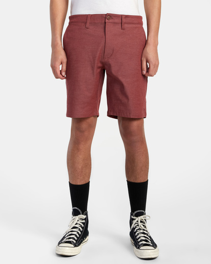 """1 Back In Hybrid Shorts 19"""" Red M200QRBA RVCA"""