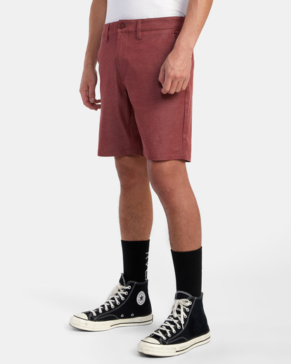 """3 Back In Hybrid Shorts 19"""" Red M200QRBA RVCA"""