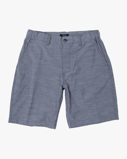 "0 All Time Solid Coastal Hybrid Shorts 19"" Blue M206QRCO RVCA"