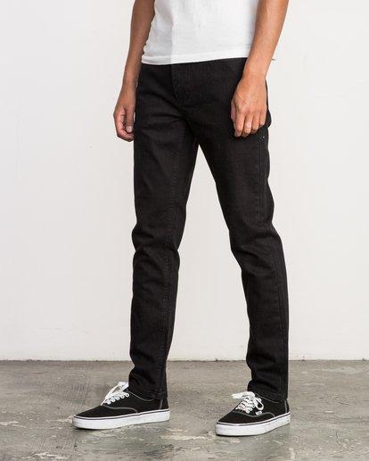3 Hexed Slim Fit Denim Jeans Grey M305QRHD RVCA