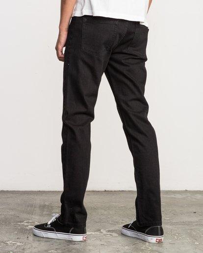 4 Hexed Slim Fit Denim Jeans Grey M305QRHD RVCA