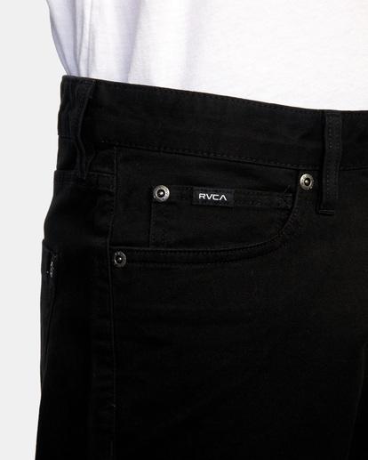 3 DAGGERS SLIM FIT TWILL PANT Black M3453RDT RVCA