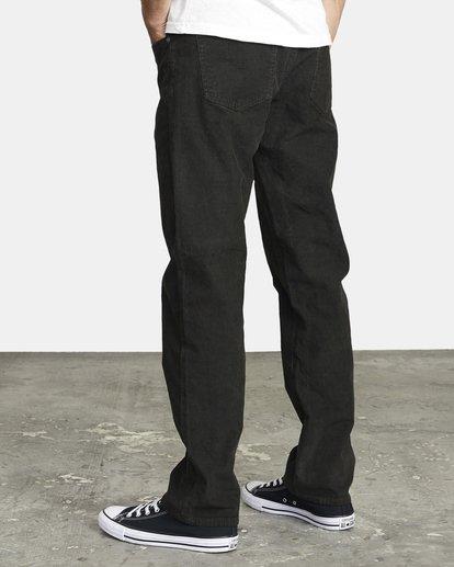 4 DAGGERS SLIM PIGMENT CORD PANT Black M3463RDC RVCA