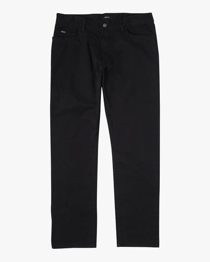 0 week-end TWILL STRAIGHT FIT PANT Black M3483RWT RVCA