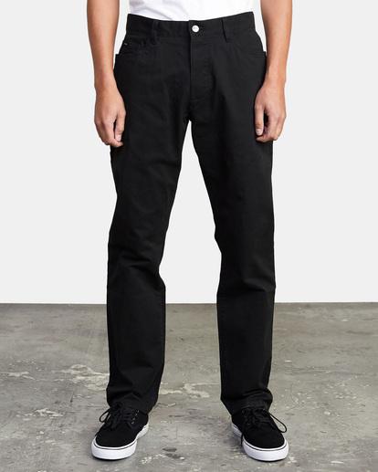 1 week-end TWILL STRAIGHT FIT PANT Black M3483RWT RVCA