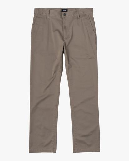 0 week-end Stretch straight fit Pant Grey M3493RWS RVCA