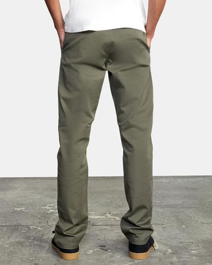 2 week-end Stretch straight fit Pant Green M3493RWS RVCA