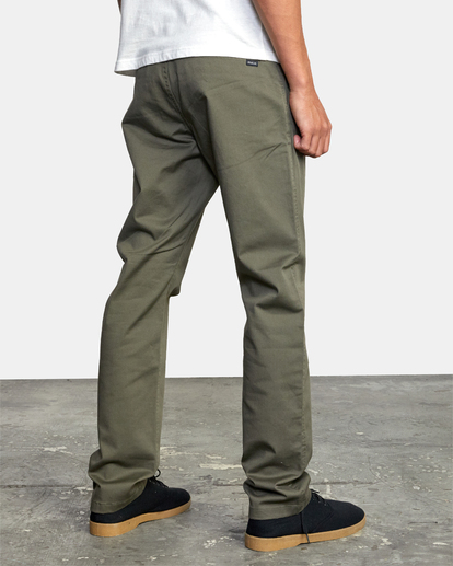 6 week-end Stretch straight fit Pant Green M3493RWS RVCA