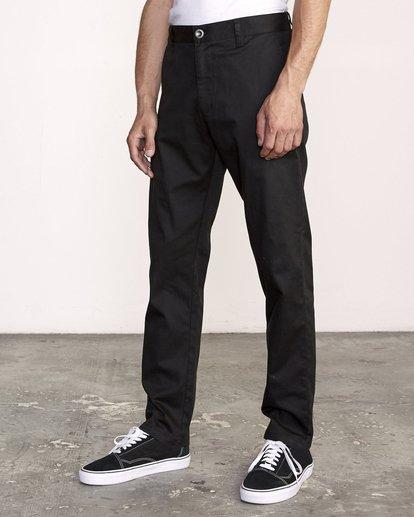2 week-end Stretch straight fit Pant Black M3493RWS RVCA